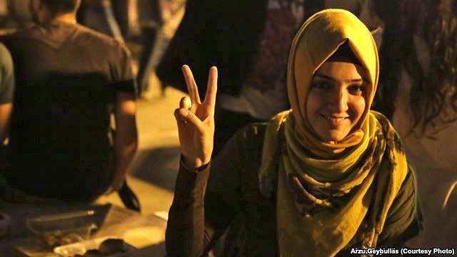 A member of the Anticapitalist Muslims protesting in Taksim. June 8, 2013. Their website: http://www.antikapitalistmuslumanlar.org/