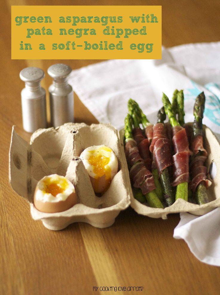 Frühlingszeit - Spargelzeit. In Kombination mit Schinken und Ei ein leckerer Snack.
