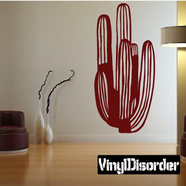 Cactus Southwestern Wall Decal - Vinyl Decal - Car Decal - 042