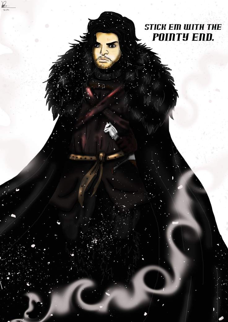 Number 3 of my Game Of Thrones Character Cards.Jon Snow.Enjoy