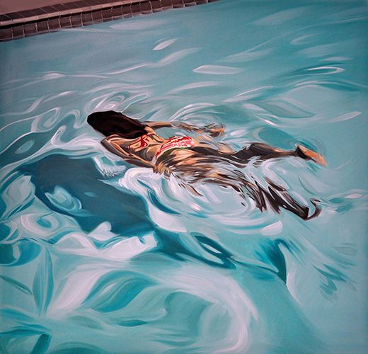 Swimming Pool Art : Best images about swimming pool art paintings of
