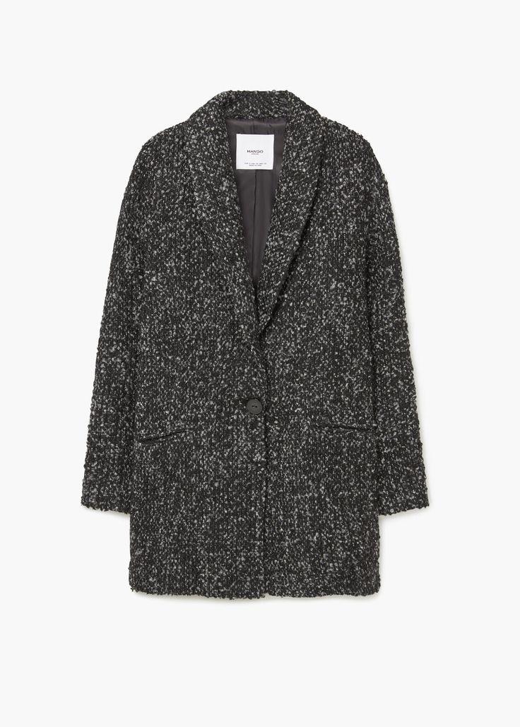 Manteau jaspé en laine | MANGO taille M