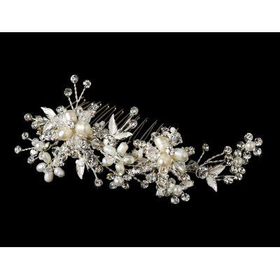 Glittering Swarovski & Freshwater Pearl Wedding Comb