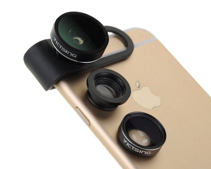 Si vous envisagez l'achat de compléments optiques pour votre iPhone, vous avez vraisemblablement été freinés dans votre élan par le prix de vente franchement assaisonné du leader du marché, Olloclip. C'est vrai que leurs solutions sont de qualité, mais quand même… Alors si l'on est iPhonographe et que l'on souhaite équiper son iPhone 6 ou iPhone 6S d'un convertisseur optique grand-angle,  fish-eye ou macro, on peut regarder de près cette nouvelle solution très bon marché, le kit VicTsing…