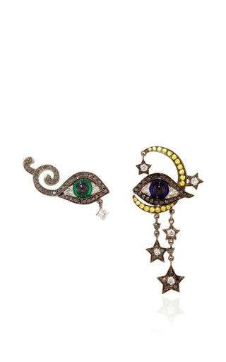One of a kind homage to surrealism earrings by LYDIA COURTEILLE Preorder Now on Moda Operandi
