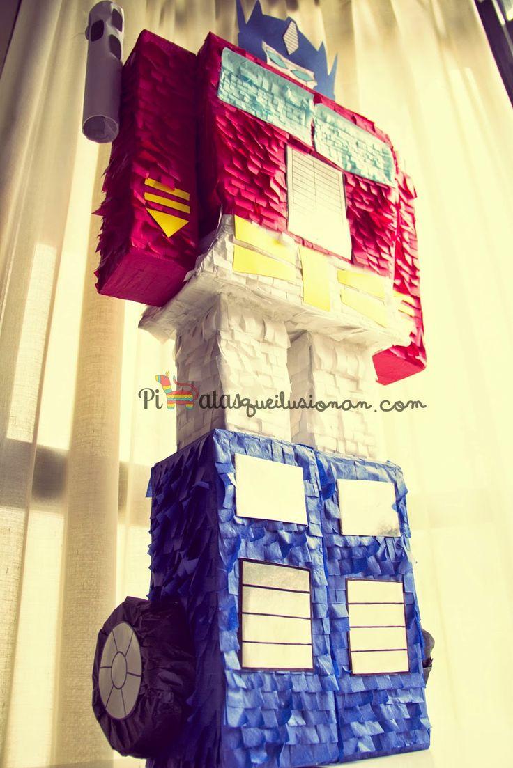 Piñata personalizada Transformers Optimus Prime
