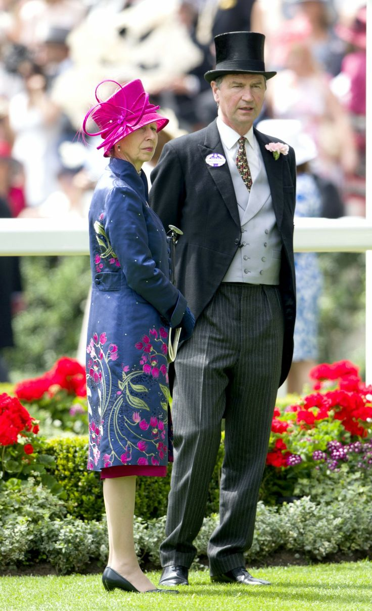 Princess Anne and Timothy Laurence attending Ladies' Day.