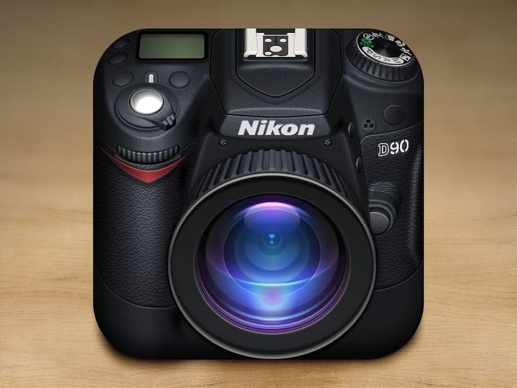 #cameraicon: Camera Ios, Nikon Icons, Nikon Camera, App Icons, Gianluca Divisi, Reflex Camera, Icons Design, App Design, Ios Icons