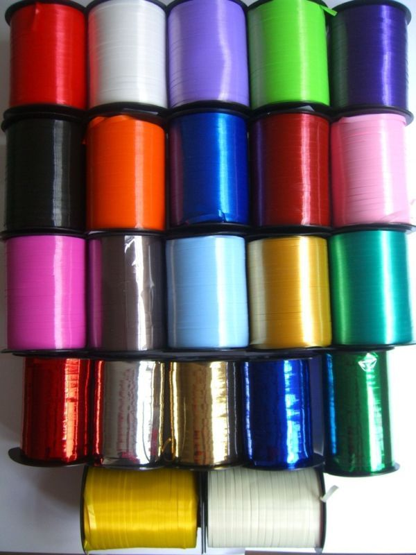 Standard Colour Curling Ribbon in 500m Rolls. Curling Ribbon. 500m Curling Ribbon. Metallic Foil/Iridescent Ribbon in 250m Rolls. 19 Colour Range One of Ed's Party Pieces. Disposable Helium Canisters. | eBay!