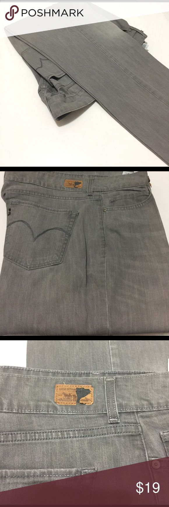 Ladies gray Levi jeans Ladies gray levi jeans, starched and ready for wear. Small tear on the levi's sign, but not seen with belt. Levi's Jeans Straight Leg