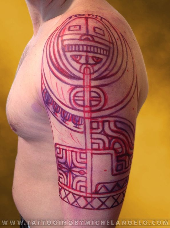 Mezza manica marchesana   stile marchesano blackwork    Tattoo by Michelangelo   Tribal tattoos   Tatuaggi tribali