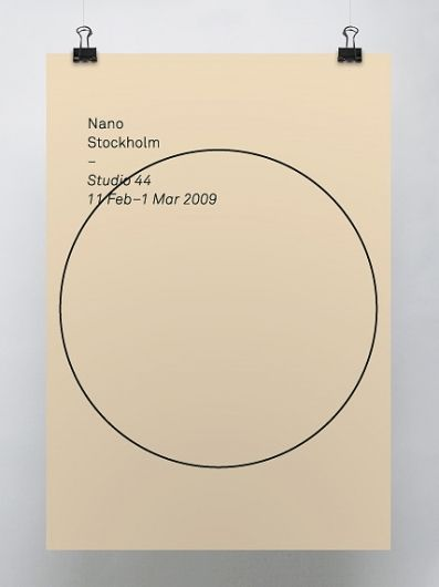 Poster -- geometry, circle, black on not-white paper, not even sure how to describe why this is great...