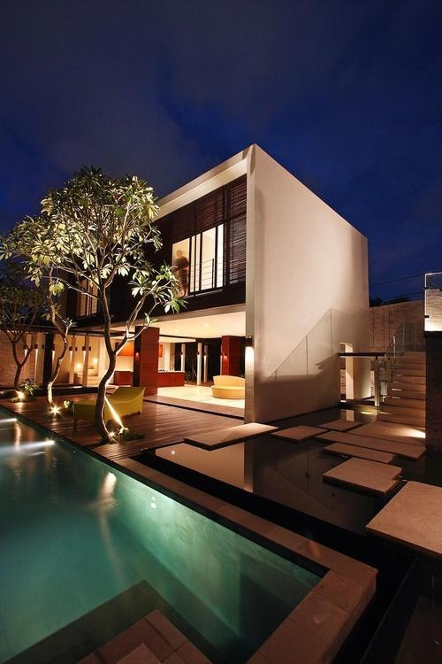 villa paya paya love the idea of building up and a pool is a must for night swims family gathering and romantic encounters. I love clean lines and pop of light simple and functional