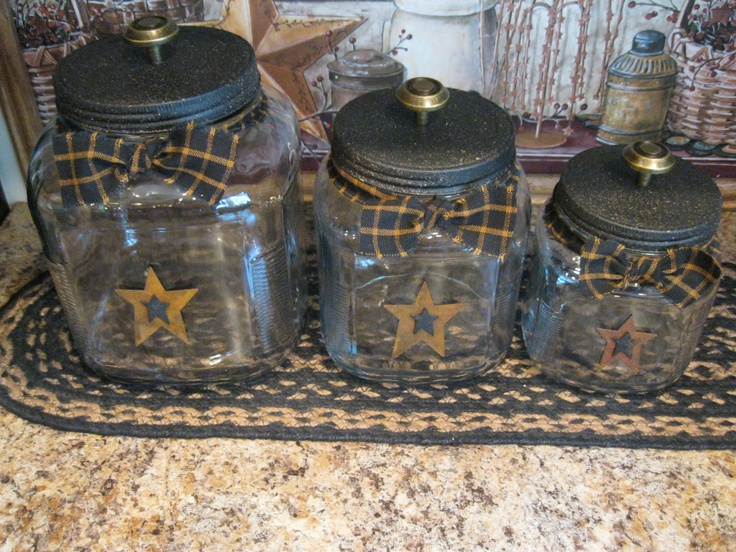 Canisters https://www.facebook.com/pages/Primitive-Country-Treasures/100991083354848