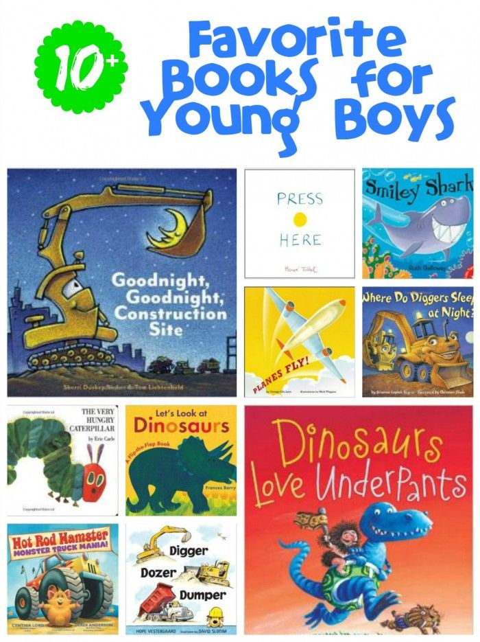 10+ Favorite Books for Young Boys- A great list of books to check out for the little boys in your life! Girls would love these books too!
