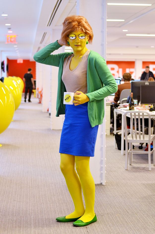 Edna Krabappel | 35 BuzzFeed Employees Who Dressed Up For Halloween