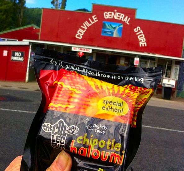#chipotlenobull is makin' it's way around NZ Countdown Supermarkets peeps so do give this squeaky wonder a whirl, it really will make the biggest meat eater swoon };8 (beaut road-trip pic from one of our herd) #nobull #haloumi #chipotle