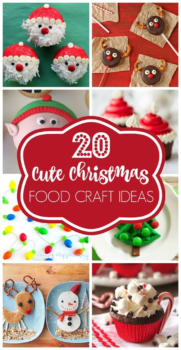 Let the holidays begins with these 20 CUTE Christmas Food Craft Ideas the whole family will love on www.prettymyparty.com.