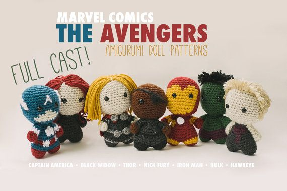 The Avengers Full Cast Amigurumi Dolls inspired by Marvel Comics // Marvel Crochet Pattern Master Pack // Instant Download