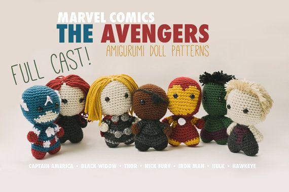 The Avengers Full Cast Amigurumi Dolls inspired by Marvel Comics // Marvel Crochet Pattern Master Pack // Instant Download