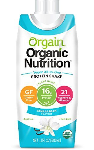 Ideal Protein Diet Shakes - Orgain Plant Based Organic Vegan Nutrition Shake,  Vanilla Bean, 11 Ounce, Packaging May Vary (pack of 12) *** Click image to  ...