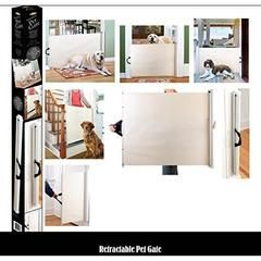 "Retractable Pet Gate - Expands To 46""W"