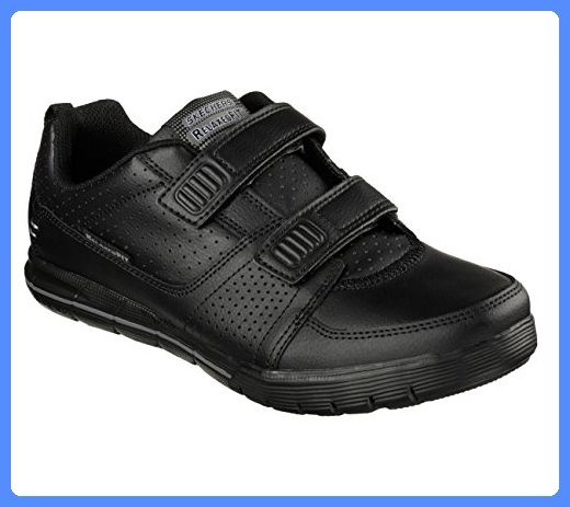 Skechers Men's Relaxed Fit Arcade II Crunch Time Two Strap Shoe,Black,US 13 M