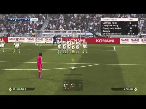 Pes2015 My club Andrea Pirlo freekick