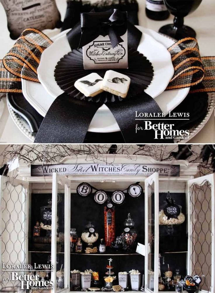 Loralee Lewis for Better Homes and Gardens.  Amazing Halloween Party Inspiration. Download all the FREE printables  at www.bhg.com/bewitching