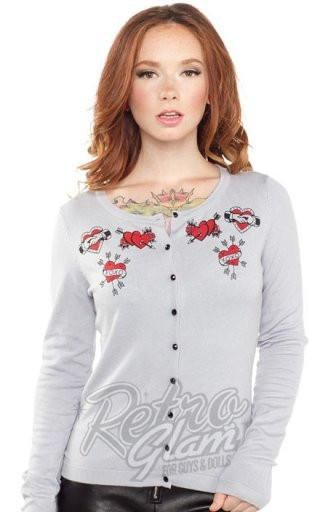 Sourpuss Heart Flash Cardigan
