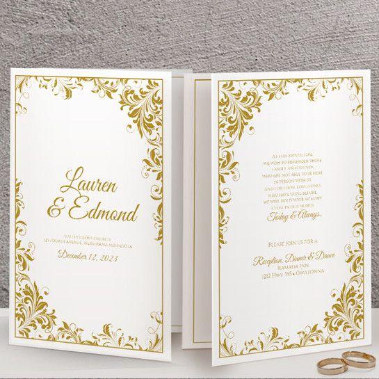 The  Best Program Template Ideas On   Wedding Program