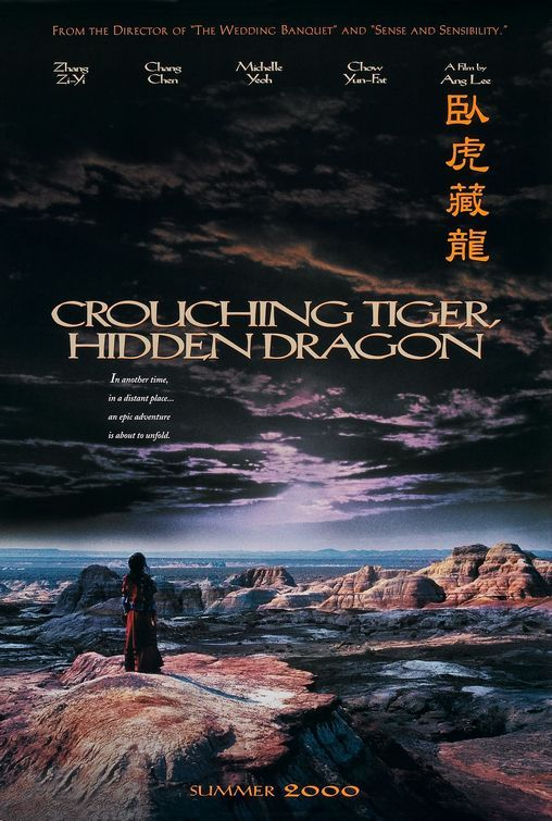 Crouching Tiger, Hidden Dragon aka Wo hu cang long (3 stars) Where did Ang Lee's reputation as a top director come from? I just don't see it. This movie has some incredible martial arts scenes, but not much more. The love story is believable but lackluster. The mystery of the stolen sword was easily figured out. The movie is too long and has many dull spots. Worth a view.