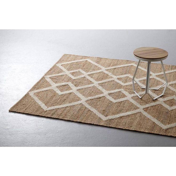 whkmp's own vloerkleed (160x230 cm), Bruin/wit