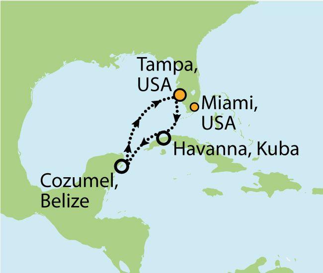 ROYAL CARRIBBEAN - EMPRESS OF THE SEAS - KREUZFAHRT MIT MIAMI UND HAVANNA  9 Nächte Zielgebiet: USA - KUBA - MEXIKO - USA