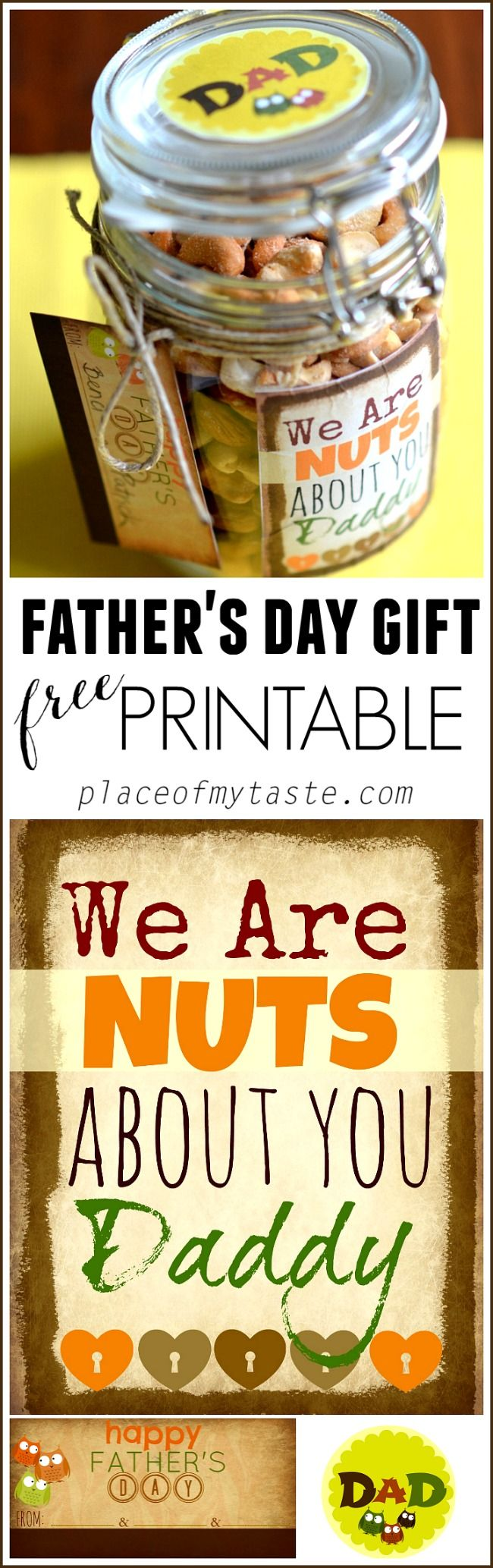 Father's day gift with FREE printables. So fun and healthy, too!
