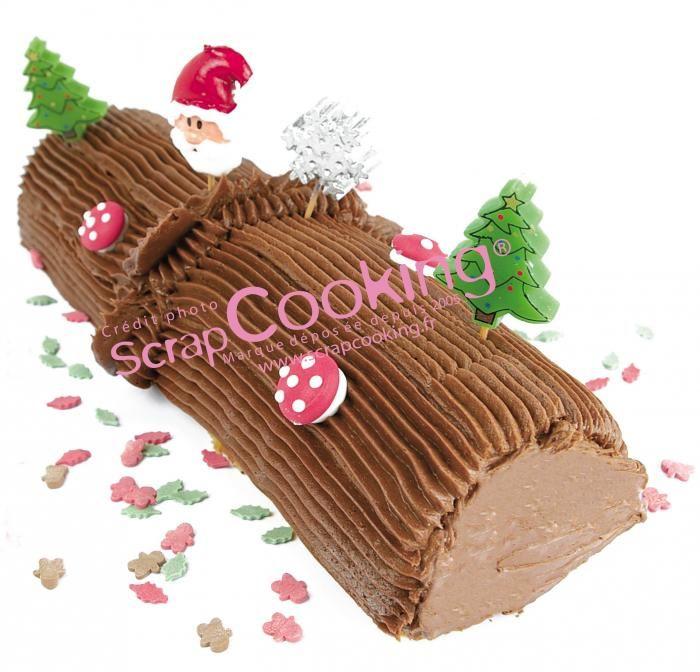 ide dco pour votre bche de nol httpblogscrapcookingfr - Decoration Pour Buche De Noel
