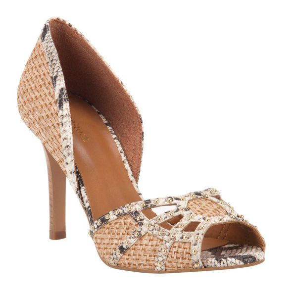 Peep toe <3 #shoestock #bestsellers #peeptoe #rafia #delail - Ref 26.01.3191