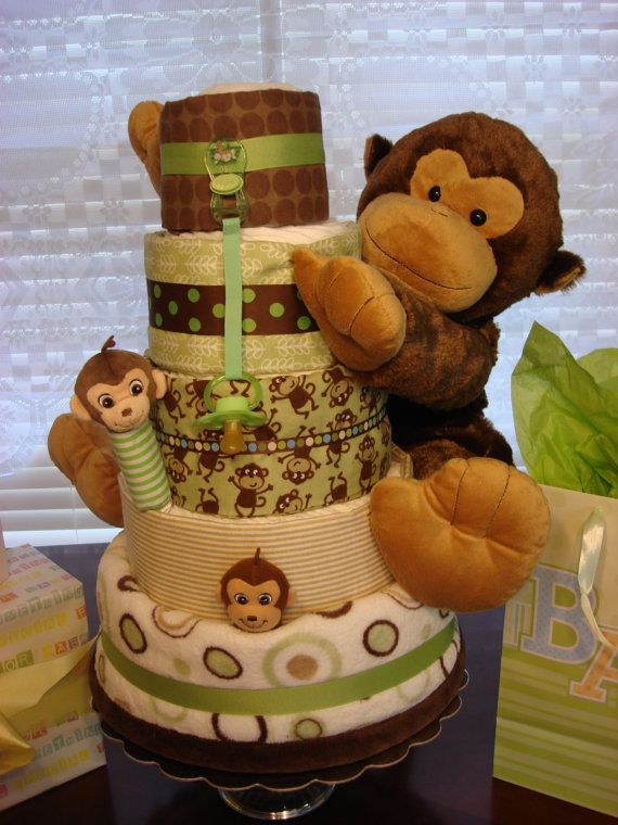 I want this!!! I love the monkey theme for a baby shower!