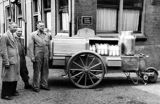 Melkwagen uit de jaren 50.