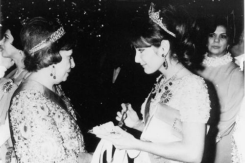 HIH Princess Shahnaz Pahlavi with her grand mother Empress Taj Elmomuk, the mother of the Shah.