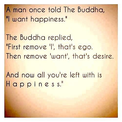 Meditation: remove desire and self from your thoughts. Contemplate what is left.