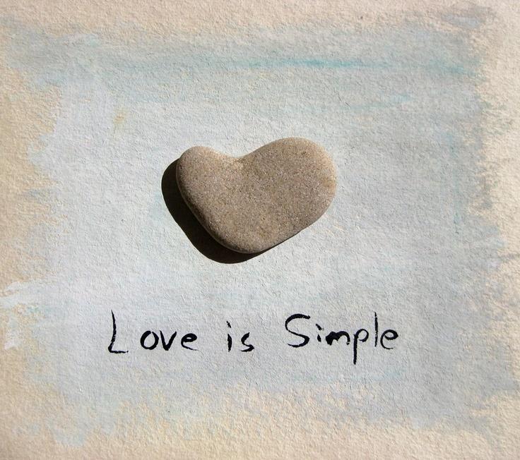 Love stones - Genuine heart stone  beach rock.