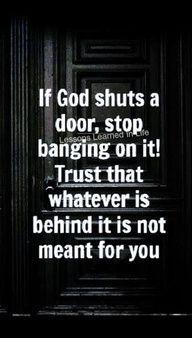 If God shuts a door...