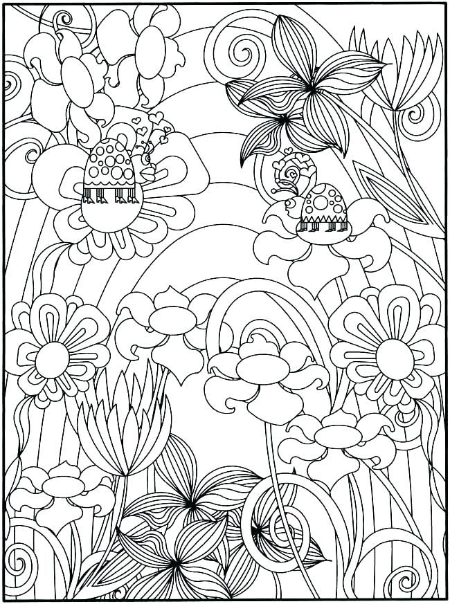 Coloring Pages For Adults Adult Coloring Pages Garden