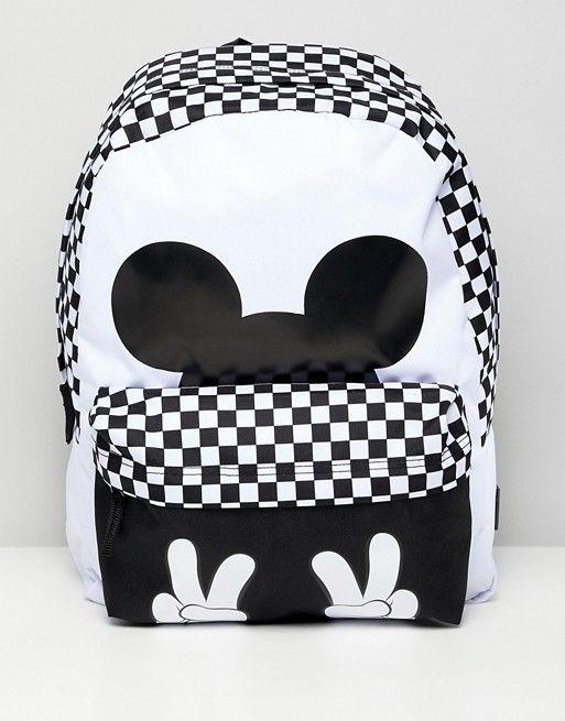 72d3ea70a41f7 Vans X Disney checkerboard mickey realm backpack in 2019 | Backpacks ...