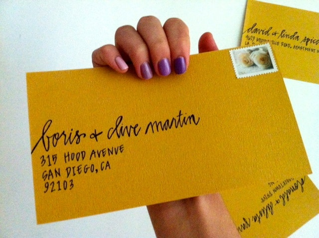 Envelope Calligraphy - Contemporary Handwritten Wedding and Event Calligraphy