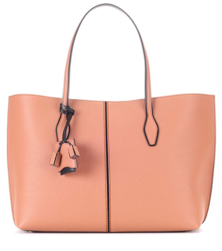 Brown leather shopper / Tod's