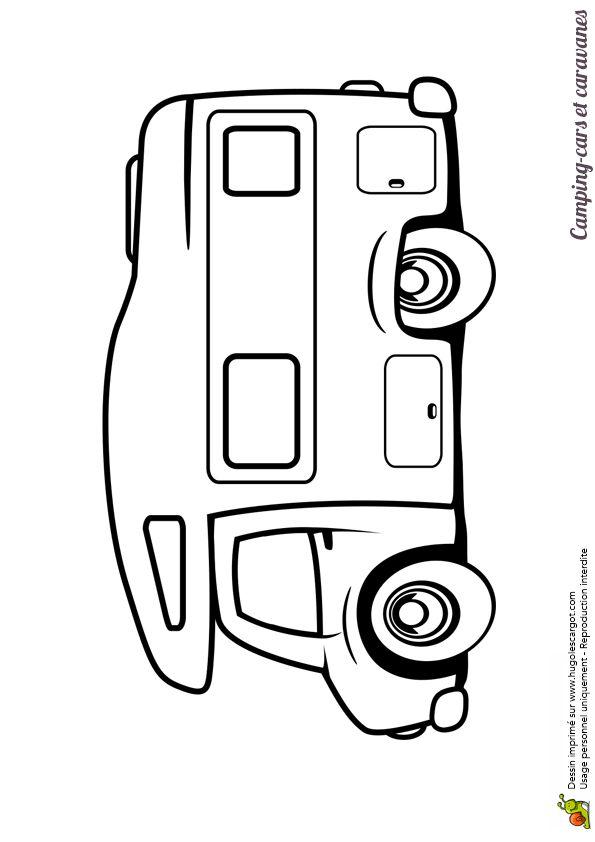 Petit camping car moderne colorier par des enfants coloriages de camions - Camping car a colorier ...