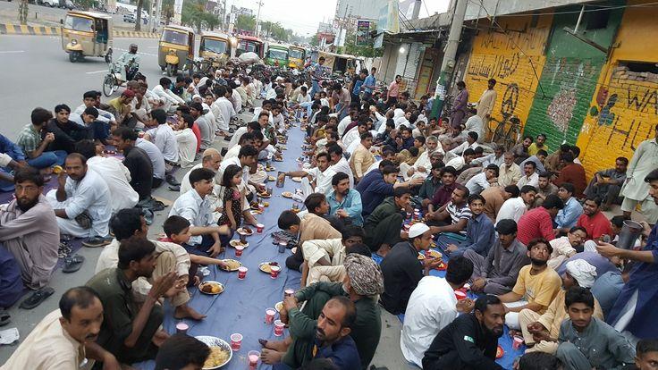 Iftar at Wall of Humanity