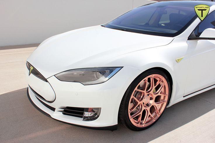 Tesla Rose Gold Rims